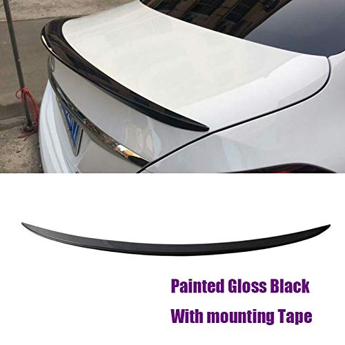 MUTUSAISI Rear Trunk Lip Wing Spoiler Black Trim Fit for Benz C-Class W205 C200 C300 2015 2016 2017 2018 2019 2020