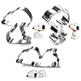 Funny Cookie Cutter Set for Snoopy - 3 Pieces - Stainless Steel (3)