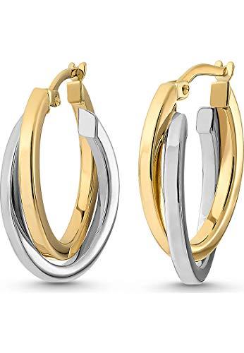 CHRIST Gold Damen-Creolen 333er Gelbgold, 333er Weißgold One Size 84151831