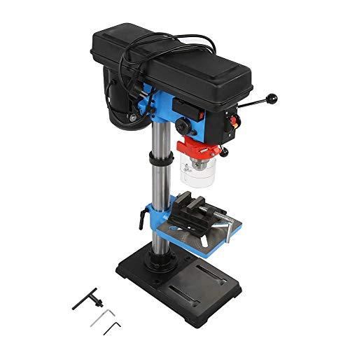 Taladro de columna de 550 W, alta precisión, taladro de mesa industrial, 9 niveles de velocidad ajustable, portabrocas de 16 mm