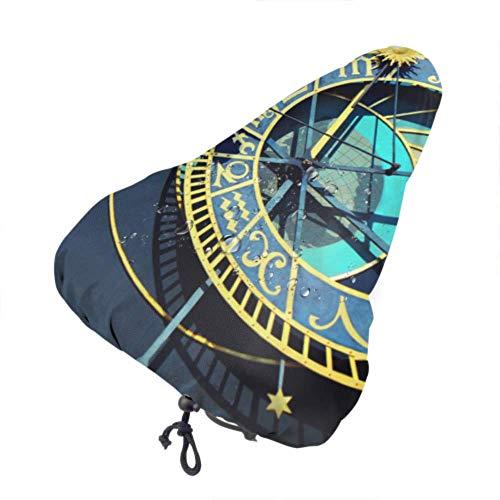 Zemivs Reisesitzbezüge Alte Uhr in der Altstadt Fahrrad Kindersitz Regenbezug Sitzbezug Mit Kordelzug, Regen- und Staubbeständig für die meisten Fahrradsättel