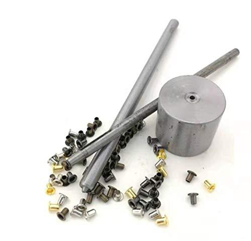 Kit de Herramienta de Ojetes,Mezcla de colores pequeños ojales con ojales para calzado, ropa, cuero, lona BJD ojales con herramientas de fijacion, paquete de 100 (2.5mm)