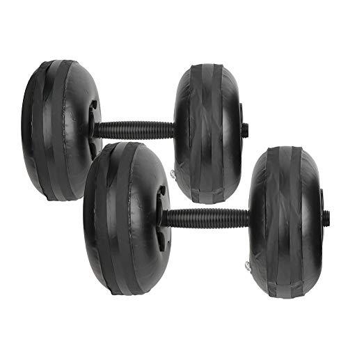 Vbest life Mancuernas de Mujer llenas de Agua, Equipo de Entrenamiento Muscular de Brazo de 8-10 kg con Forma de Yoga Mancuernas de Peso Ajustable