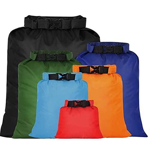 NIDONE Bolso Seco Impermeable Ultraligero Deriva Esnórquel Seco Aire Libre Sacos Bolsa De Almacenamiento para 6pcs Camping Canotaje Color Rafting