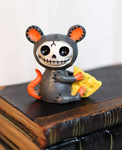 Voodoo Mouse with Muenster Cheese Skeleton Figurine Mice Furrybone - Favorite Decor Store