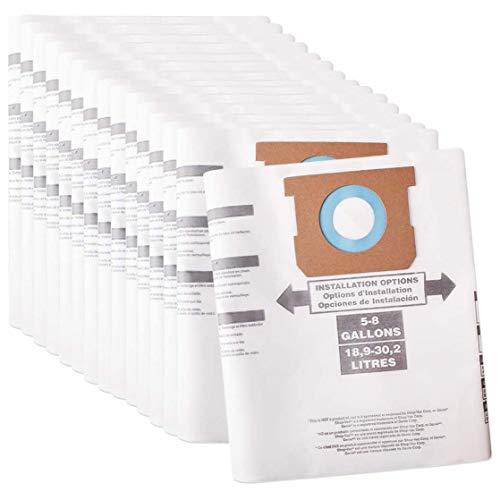 Fransande - Lote de 15 bolsas de filtros de recambio tipo E para aspiradora Shop Vac de 5 a 8 galones sustituye a la pieza 90661906-61 9066100