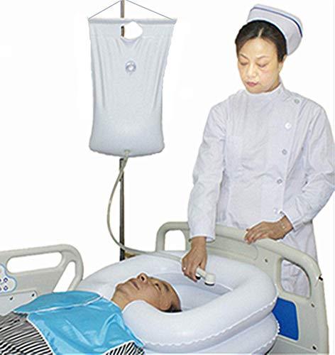 Inflatable Bedside Shampoo Basin - Hair Washing Bedside Shower System in Bed Bath for Bedridden Disabled Elderly Pregnancy