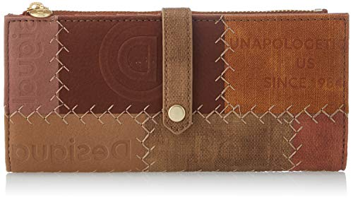 Desigual Accessories PU Long Wallet, Lunga Durata Donna, Marrone, U