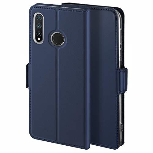 HoneyHülle für Handyhülle Nokia 3.2 Hülle Premium Leder Flip Schutzhülle für Nokia 3.2 Tasche, Blau