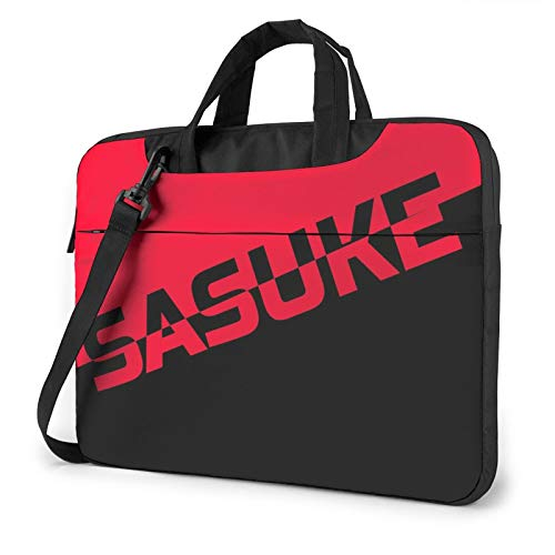 Naruto Sasuke Uchiha Compatible with 15.6 Inch Multi-Functional Shockproof Laptop Shoulder Messenger Bag Tote Bag with Adjustable Strap,Computer Carrying Bag for MacBook Ultrabook