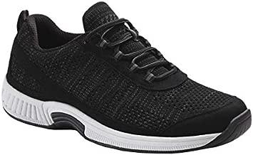 Orthofeet Proven Heel and Foot Pain Relief. Extended Widths. Best Orthopedic Walking Shoes Plantar Fasciitis Diabetic Men's Sneakers Lava Black