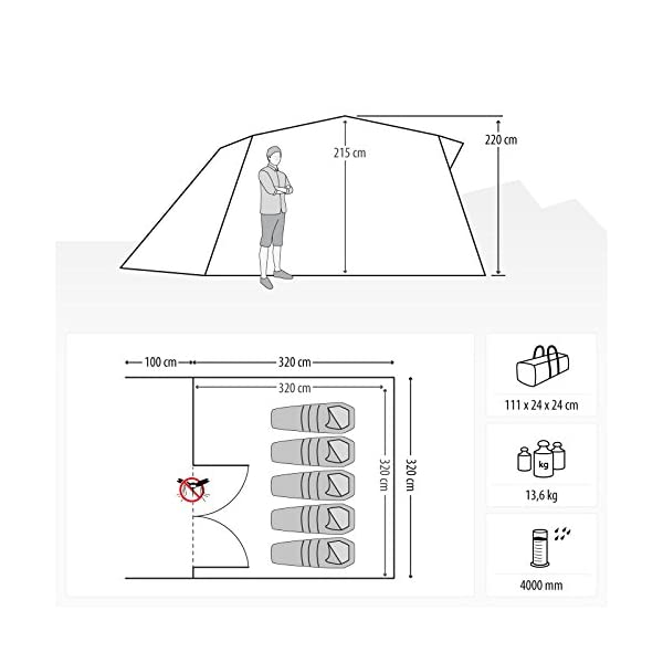 Qeedo Quick Villa 5 person Family Camping Tent (easy assemble)