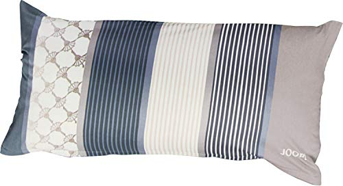 Joop! Mako Satin Kissenbezug, Cornflower Stripe, 4069-09-40x80 cm, deep Coal,