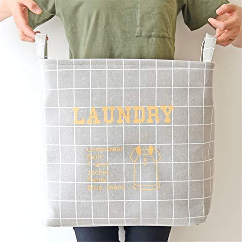 Cesta de lavandería gris cesta de lavandería plegable impermeable y duradera para acomodar ropa cesta plegable de lona de gestión de la luz cesta de la reina grande cesta de la ropa