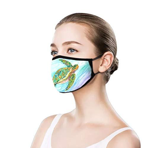 PPangUDing Damen Mundschutz mit Motiv Waschbar Baumwolle Wiederverwendbar Atmungsaktive Staubdicht Halstuch Multifunktionstuch Bandana