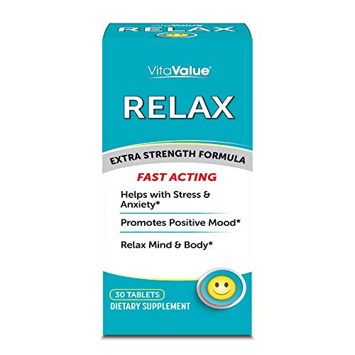 Vita Value Relax Extra Strength Formula, 30 Tablets