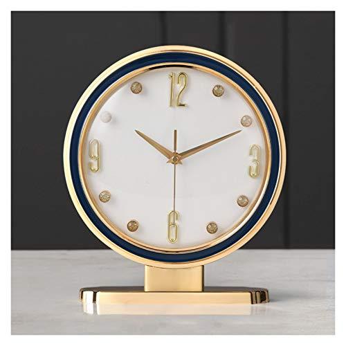 Decorativo Reloj Cuero para el hogar Mesa de mesa a un lado Números árabes Decorativo Escritorio Reloj de cristal Espejo de cristal Manta de cristal Reloj (alimentado por batería) Reloj de Mesa