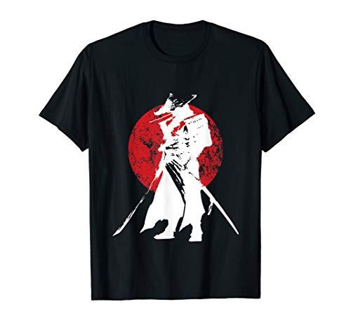 Samurai Krieger Schwert Japanisches Retro T-Shirt & Design