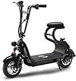 Bicicleta eléctrica plegable, velocidad variable, pequeño, portátil, ultraligero, doble freno de disco, 350 vatios, bicicleta eléctrica potente, velocidad máxima de 25 km / h para hombres y mujeres