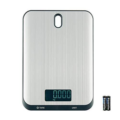 QIANLI Balance de cuisine numérique 10kg/22lb Professional acier inoxydable balance électronique 7unités de conversion arrêt automatique Écran LCD Fonction Tare Haute précision 0.1g Noir