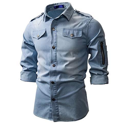 Denim Jacket Men Vintage Denim Coat Advanced Slim fit Lapel Men's Jackets Classic Button Casual Jacket