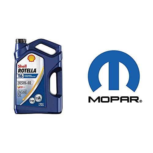 Shell Rotella T6 Full Synthetic 5W-40 Diesel Engine Oil (1-Gallon, Case of 3) + Mopar 68229402AA Engine Oil Filter
