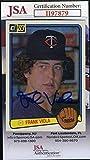 Frank Viola JSA Coa Autograph 1983 Donruss Rookie Hand Signed - Baseball Slabbed Autographed Cards. rookie card picture