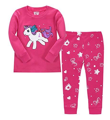 Niñas Pijama Unisornio de Navidad Unicornioio 2 unids Manga