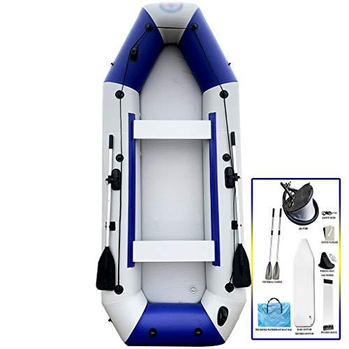 YUESFZ Aufblasbare Kajaks Kanu Aufblasbar Dickes Verschleißfestes Sitzkajaks, Outdoor-schlauchboote kajak, Surfbrett Auf See, Erschwingliches Set (Color : Blue+White, Size : 10.8ft)