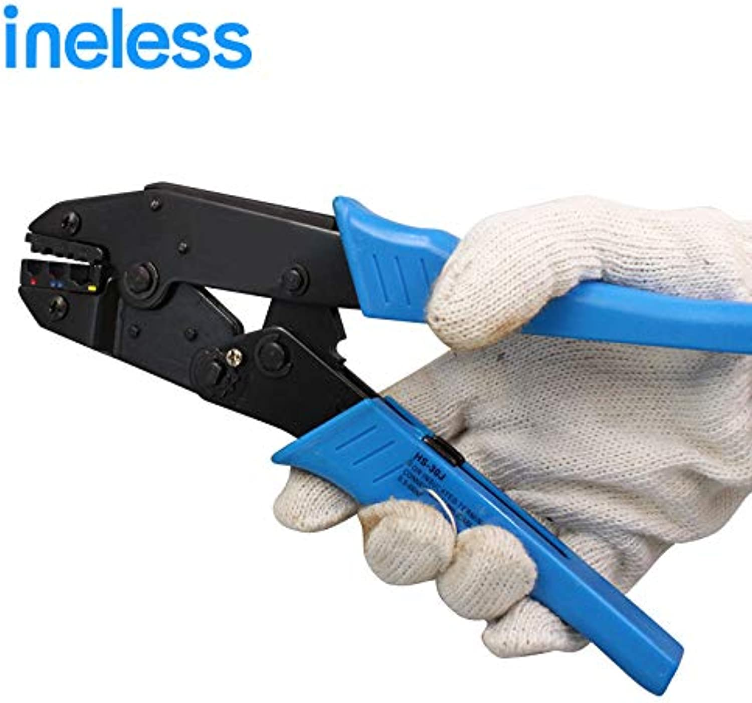 HS-30J 0.5-6.0 mm2 Terminals Crimping Tool Crimping Plier 22-10AWG Insulated Terminals Ratchet Crimping Tool