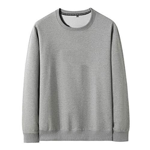 Autumn - Camiseta de manga larga para hombre Gris gris XXL