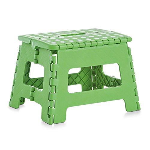 Zeller 13704 Klapphocker Kunststoff zusammenklappbar, 32x25x22 cm, Grün
