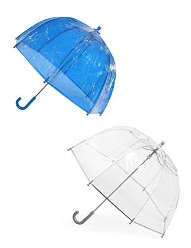 Totes Kids' Clear Bubble Umbrella (Pack of 2), Blue/Clear