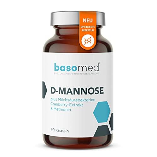 D-Mannose Hochdosiert 2000 mg pro Tagesdosis + Milchsäurebakterien + Cranberry-Extrakt + Methionin I Kein umständliches Pulver (90 Kapseln)