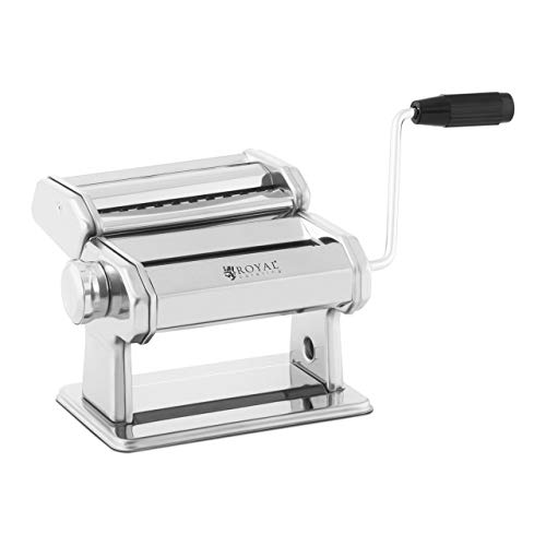 Royal Catering RC-PM150Q Nudelmaschine manuell 14 cm Pastamaschine 0,5-3 mm Tagliatelle Nudeln