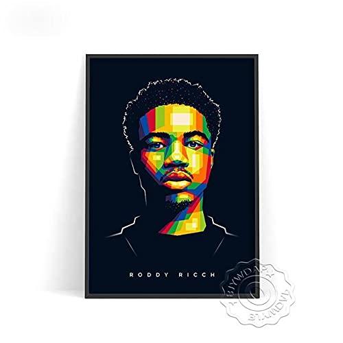 xmydeshoop Rapper Roddy RIcch Poster, JID Alligatoah Poster, Sido Kunstdrucke, The Weeknd Music Poster, The Kid Laroi Bar Pub Club Art Decor 40x50cm No Frame PE-1385