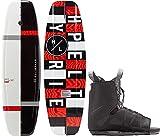 Hyperlite Motive Mens Wakeboard 134 W/Frequency Bindings Black/Red