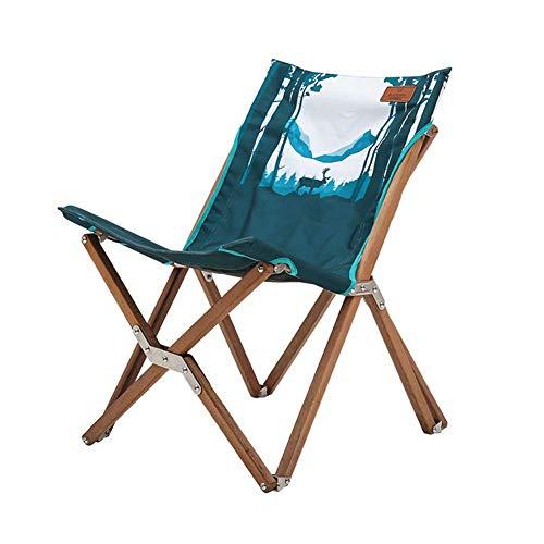 Zhihao Außen Klappstuhl bewegliches hölzerne Stuhl Strand-Stuhl Villa Garten Massivholz-Start Rückenmittagspause Maximale Belastbarkeit 240 Lbs, A (Color : C)