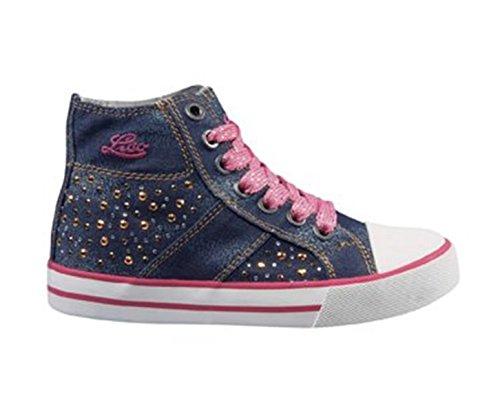 Lico Fly High Star, Sneakers Basses Fille - Bleu - Bleu/Rose, 25 EU