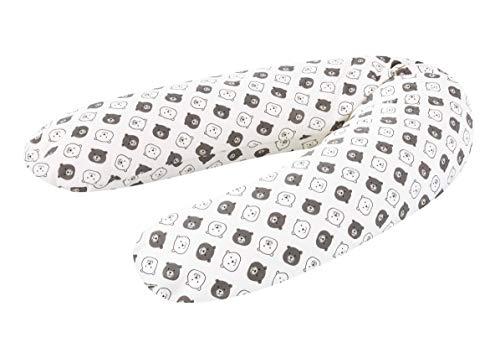 Träumeland Stillkissen 'Kleiner Bär' für eine Bequeme Schwangerschaft und Entspanntes Stillen. Länge 190 cm