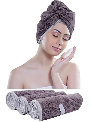 KinHwa Microvezel Turban-handdoek voor haar absorberende hoofdhanddoek groot super zacht voor vrouwen