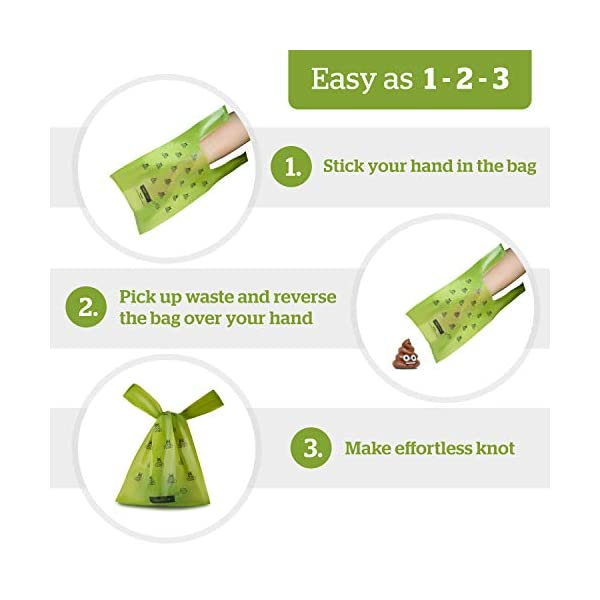 Pogi's Poop Bags - 300 Dog Poo Bags with Easy-Tie Handles - Scented, Leak-Proof, Biodegradable Poo Bags for Dogs 1