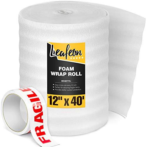 Luftpolsterfolie 30 cm x 12 m für Versandverpackung & Umzugskartons - Packmaterial – Schaumstoffrolle, Foam Wrap Verpackung, Verpackung Rolle, Verpackungsmaterial