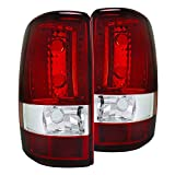 Spec-D Tuning Red Clear Lens Tail Lights for 2000-2006 Gmc Yukon Denali/Chevy Tahoe Suburb...