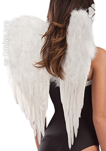 Ailes d'Ange Plume - deguisement - Synthetique - 65x55cm - Blanc - 5299