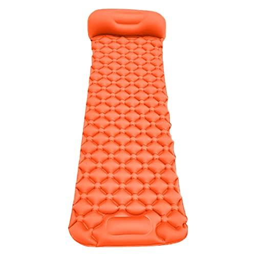Colchoneta de dormir inflable con almohada incorporada, colchón de aire compacto ultraligero a prueba de agua para mochileros, senderismo, tienda de campaña, viajes