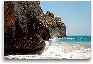 Calvendo Premium Lienzo 45 cm x 30 cm horizontal, Petra TOU Romiou – La Fels de la Afrodita, Kouklia imagen sobre bastidor, listo en lienzo auténtico, impresión en lienzo, lugares