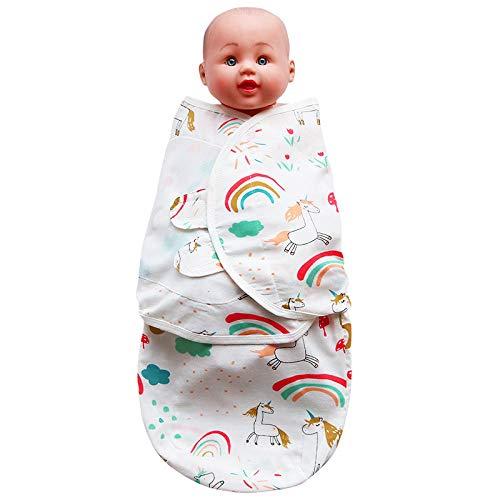 B/H Garcon Fille Gigoteuse de Lit,Serviette enveloppante Anti-Choc en Gaze pour bébé,Nouveau-né bébé câlin Couette Sac de Couchage-Horse_L,Mignon Doux Chaud Nid d'ange