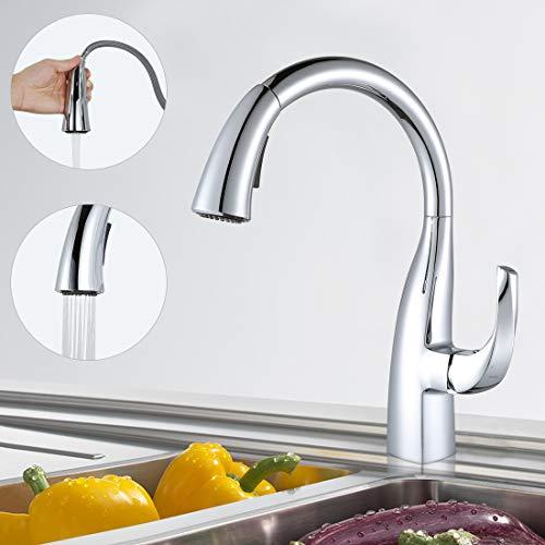ARCORA - Rubinetto da cucina, doccetta estraibile, miscelatore per lavello cucina con 2 modalità di getto, rubinetto cucina cromato, miscelatore da cucina