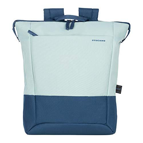 """Tucano - Zaino Porta Pc 14"""" Pollici, Compatibile con MacBook PRO 13. Backpack Billo, Zaino Leggero da Ufficio e università, in Poliestere Riciclato"""